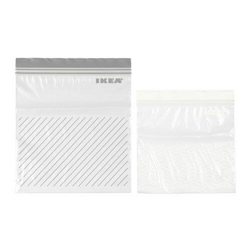 IKEA(イケア)ISTAD プラスチック袋 グレー/ホワイト 50 ピース ジップバッグの写真