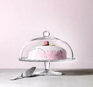 【人気商品】IKEA(イケア)ARV BROLLOPサービングスタンド ふた付きクリアガラス 29cmサービングディッシュ ケーキスタンド