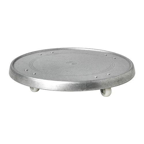 IKEA(イケア)SOCKER プラントムーバー室内/屋外用 亜鉛メッキ