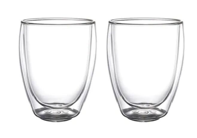 【人気商品】IKEA(イケア)PASSERAD パッセラド 2ピースダブルウォールグラス 30 cl耐熱ガラス
