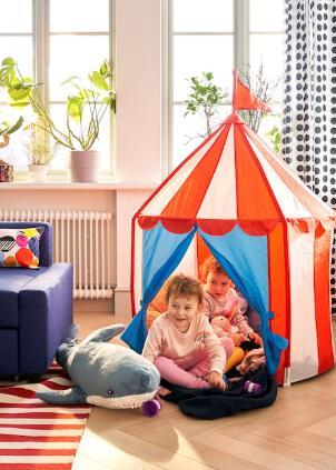 【人気商品】IKEA(イケア)CIRKUSTALT 子供用テント室内テント プレイテントの写真
