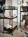 【NEW】IKEA(イケア)ニッサフォース ブラックNISSAFORS ワゴン北海道・沖縄・離島は送料¥1950キッチンワゴン キャスター付き604.073.65 バスルームワゴン ベッドルーム サイドテーブル