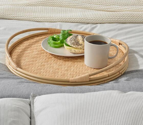 IKEA(イケア)SOMMARDROM ソマルドロームトレイ 直径43 cm熟練した職人による手編み