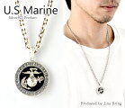 送料無料【U.S.AUSMC】アメリカ海兵隊EGAシルバーペンダントミリタリーコインイーグルシルバー925ペンダントトップネックレスメンズレディースアクセサリー