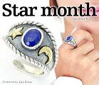 夜空の三日月☆スター【送料無料】ラピスラズリ三日月星スターユニセックスリングフリーサイズ#15カラ#23調節可能シルバーリングシルバー925真鍮リング指輪メンズレディースブランドGOODVIBRATIONS