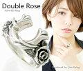 芸術的な薔薇【送料無料】ホースシュー馬蹄ローズバラシルバーリングオープンデザインシルバー925リング指輪メンズレディースアクセサリー