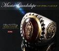送料無料グアダルーペマリアメキシカンリング鏡面仕上げMexican聖母マリアリング鷲シルバーリングシルバー925真鍮リング指輪メンズレディースアクセサリーブランドGOODVIBRATIONS