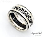 送料無料【オープンアラベスク】透かし唐草リングシルバーリングシルバー925リング指輪メンズレディースアクセサリー