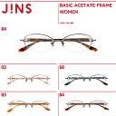 【4色】【BASIC ACETATE FRAME】編まれたゴールドパーツが上品なメガネ- JINS ( ジンズ メガネ...