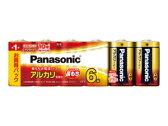 LR20XJ/6SW【税込】 パナソニック アルカリ乾電池単1形 6本パック Panasonic [LR20XJ6SW]【返品種別A】【RCP】