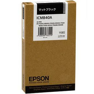 ICMB40A エプソン 純正プリンタインク 110ml(マットブラック)