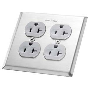OUTLET COVER102-2D フルテック コンセントプレート(UL規格・4口タイプ) FIRUTECH [OUTLETCOVER1022D]