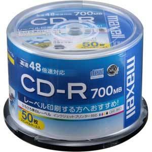 CDR700S.WP.50SP マクセル データ用700MB 48倍速対応CD-R 50枚パック ホワイトプリンタブル [CDR700SWP50SP]【返品種別A】