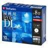 VHR21HDSP10 三菱 8倍速対応DVD-R DL 10枚パック8.5GB ホワイトプリンタブル [VHR21HDSP10]【返品種別A】