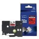 TZe-451 ブラザー P-Touch用・ラミネートテープ 赤/黒文...