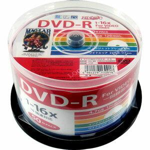 HDDR12JCP50 HIDISC 16倍速対応DVD-R 50枚パック 4.7GB ホワイトプリンタブル ハイディスク [HDDR12JCP50]