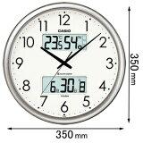 ITM-650J-8JF カシオ 温湿度計付 電波掛け時計(シルバー) [ITM650J8JF]【返品種別A】