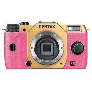 「PENTAX Q7」ボディ(ゴールド/ピンク)