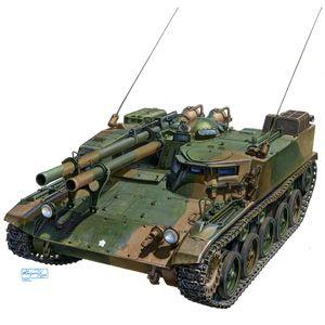 【再生産】1/72 ミリタリーモデルキットNo.6 陸上自衛隊 60式自走106mm無反動砲(2両セット)【07969】 プラモデル アオシマ画像