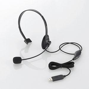 HS-HP21UBK エレコム USBヘッドセット(片耳小型オーバーヘッドタイプ・ブラック)