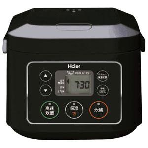 JJ-M30B(K)【税込】 ハイアール マイコンジャー炊飯器(3合炊き) ブラック Haier [JJM30BK]【返品種別A】【送料無料】【RCP】