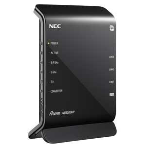 PA-WG1200HP【税込】 NEC 11ac対応 無線LANルータ 親機(867+300Mbps) (Wi-Fiデュアルバンド中継機能搭載) [PAWG1200HP]【返品種別A】【送料無料】【RCP】