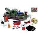1/24 Mobile Mechanic Set(バッテリー、ガス缶、コーン、コンプレッサー、タイヤ他)【HB18415】 HOBBYGEAR [HG HB18...