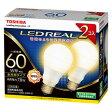 LDA8L-G/60W-2P【税込】 東芝 LED電球 一般電球形 810lm(電球色相当)【2個セット】 TOSHIBA E-CORE(イー・コア)全方向タイプ [LDA8LG60W2P]【返品種別A】【RCP】