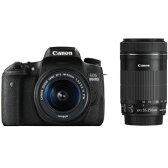 EOS8000D-WKIT【税込】 キヤノン デジタル一眼レフカメラ「EOS 8000D」ダブルズームキット Canon EOS 8000D [EOS8000DWKIT]【返品種別A】【送料無料】【RCP】