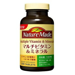 ネイチャーメイド マルチビタミン&ミネラル 200粒 大塚製薬 ネイチヤ-M Mビタ&ミネ