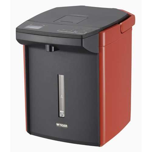 PIJA220DS [含税]虎蒸汽更少VE电热水瓶2.2L朱红TIGER蒸汽更少纪子的[PIJA220DS] [返回类型A] [RCP]
