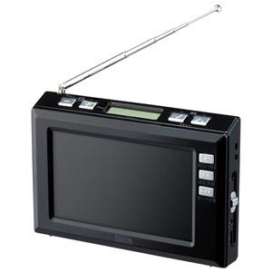 TV03BK ヤザワ 4.3インチ液晶 ワンセグTV/AM/FMラジオ(ブラック) YAZAWA