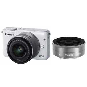 EOSM10WH-WLK【税込】 キヤノン ミラーレスカメラ「EOS M10」ダブルレンズキッ…