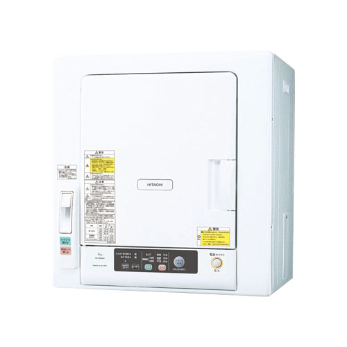 DE-N60WV-W 日立 6.0kg 衣類乾燥機 HITACHI これっきりボタン [DEN60WVW]
