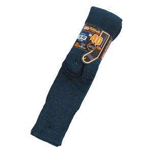おたふく手袋 パイルソックス ロング タビ 2P BS-332 ネイビー