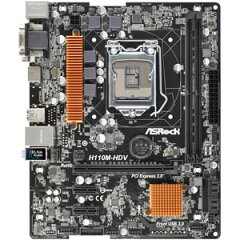 H110M-HDV【税込】 ASRock Micro ATX マザーボード(LGA1151) [H110MHDV]【返品種別B】【送料無料】【RCP】