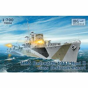 1/700 英ハントII級護衛駆逐艦・バズワースL03・英海軍1941-42年【PB70004…