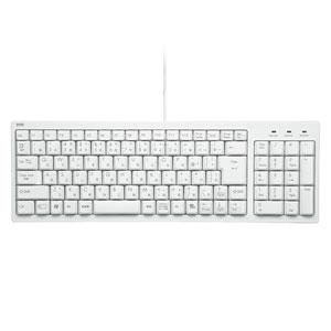 SKB-KG2WN サンワサプライ USB-PS/2変換アダプタ付 コンパクトキーボード(テンキー付フルキーボード・ホワイト)