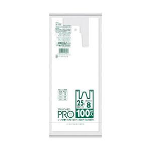 日本サニパック Y1H レジ袋 8/25号 白 100枚 [8017]