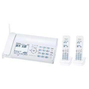 KX-PZ300DW-W パナソニック デジタルコードレス普通紙FAX(子機2台付き) ホワイト Panasonic おたっくす [KXPZ300DWW]【返品種別A】