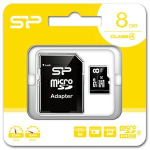 SP-MCSDHC8GB4 シリコンパワー microSDHCメモリカード 8GB Class4