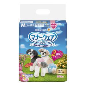 マナーウェア 小~中型犬 女の子用 Mサイズ 34枚  ユニ・チャーム マナ-オンナノコヨウM34マイ