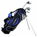 USCS-5755 BL U.S.アスリート ジュニア用 ゴルフ クラブセット 4本セット スタンドバッグ付 ブル−9〜12歳対象(身長130〜150cm) U.S.Athlete
