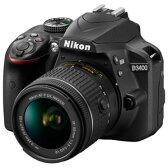 D3400LKBK【税込】 ニコン デジタル一眼レフカメラ「D3400」18-55 VR レンズキット(ブラック) [D3400LKBK]【返品種別A】【送料無料】【RCP】