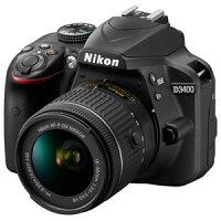 D3400LKBK ニコン デジタル一眼レフカメラ「D3400」18-55 VR レンズキット(ブラック) [D3400LKBK]【返品種別A】