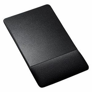 MPD-GELNNBK サンワサプライ リストレスト付きマウスパッド(布素材、高さ標準、ブラック)