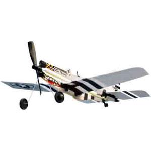 ゴム動力エアプレーンシリーズ P-51ムスタング あおぞら画像
