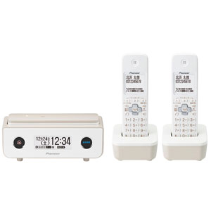 TF-FD35T(TY) パイオニア デジタルコードレス留守番電話機(子機2台)マロン Pioneer TF-FD35シリーズ [TFFD35TTY]【返品種別A】【送料無料】