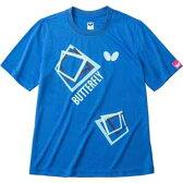 BUT-45070-177-O【税込】 バタフライ 卓球ウェア(男女兼用)(ブルー・Oサイズ) キュービック・Tシャツ [BUT45070177O]【返品種別A】【RCP】