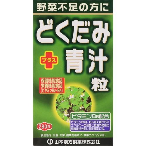 山本漢方製薬 山本漢方 どくだみ+青汁粒 280粒
